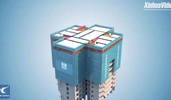 จีนใช้แท่นสร้างอาคารสูงอัตโนมัติ เสมือนมีโรงงานเคลื่อนที่