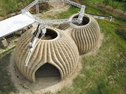 บ้านดินสร้างด้วยเครื่องพิมพ์ 3D (3D Printer) เสร็จใน 200 ชั่วโมง